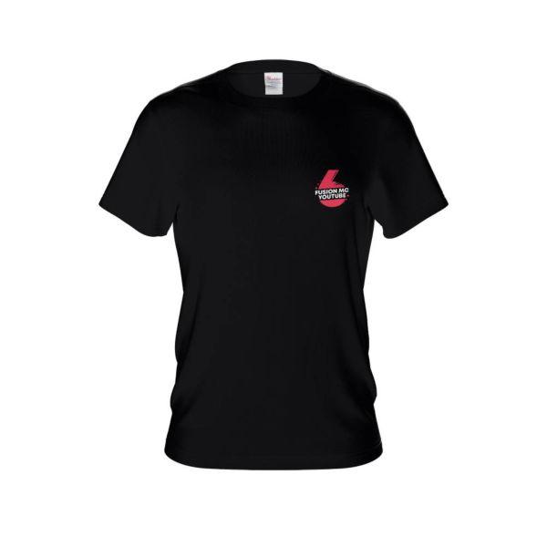 퓨전엠씨 6만 기념 티셔츠 블랙